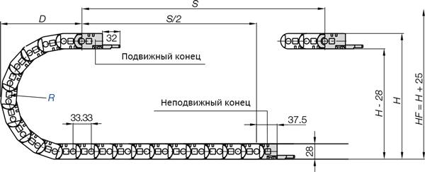 монтаж кабель канала igus series 1500